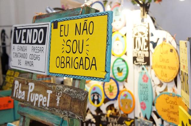 Placas decorativas da Piba Puppet - Encontro de Criadores / Santos