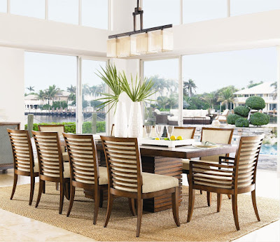 Tommy Bahama dining room set at Baer's Furniture