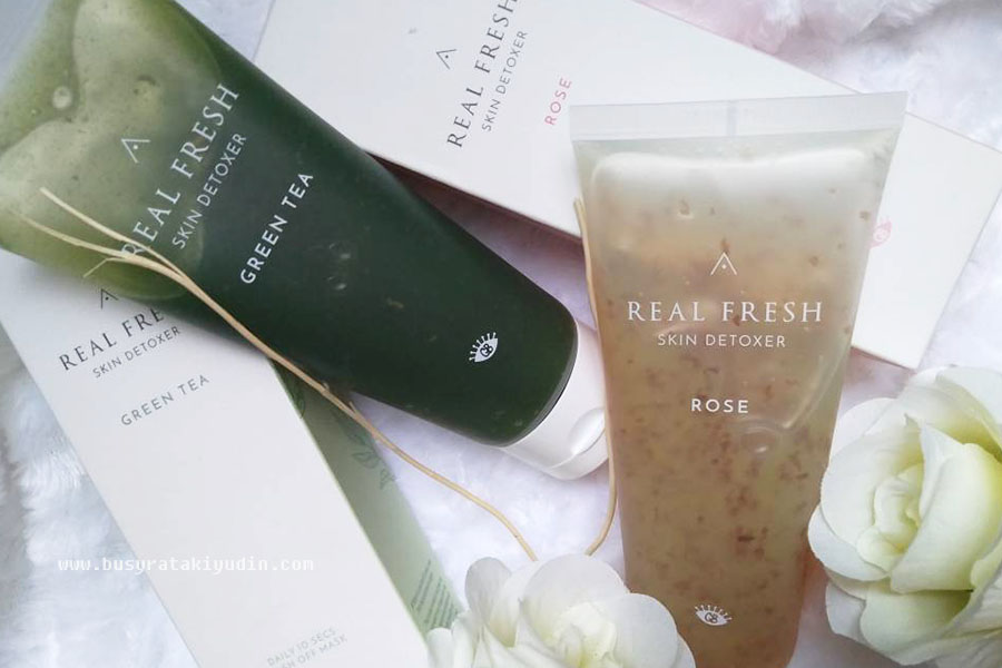 real fresh skin detoxer, mask rose, mask green tea, cleanser, mask 10 saat, althea, get it beauty,