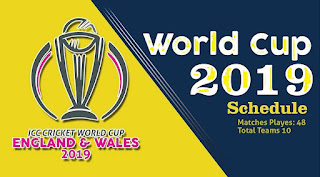 Download ICC Cricket World Cup 2019 Full Schedule | Fixtures Point Table, Playing 11