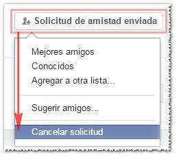 Eliminar solicitud de amistad Facebook - MasFB