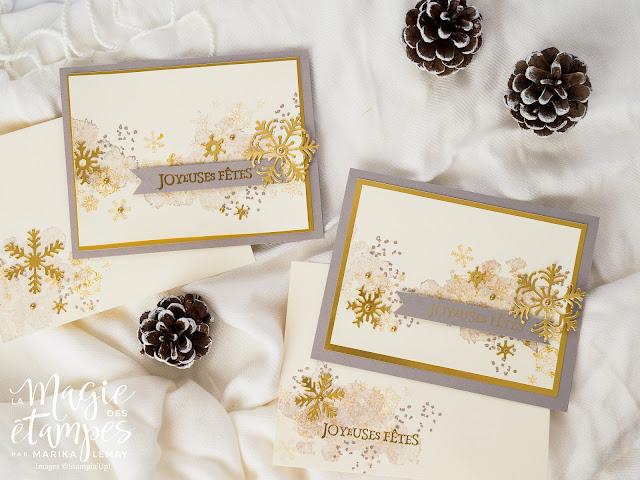 Carte de Noël Stampin' Up! utilisant le lot Tourbillon de flocons