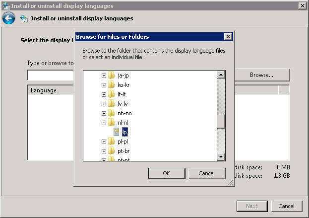 How to install East Asian Language Pack for windows 7 XP mode?