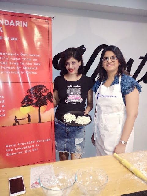 Dipty Gharat with Chef Niddhi jain