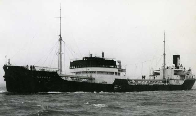 Norwegian tanker Inneroy, sunk by U-553 on 22 January 1942 worldwartwo.filminspector.com