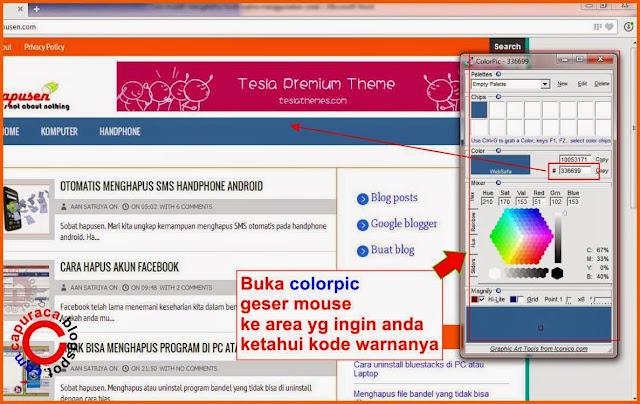 Cara mudah mengetahui kode html warna,cara tahu kode html warna,