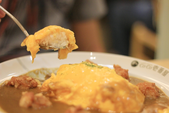 coco ichibanya curry fried chicken omelette rice | japobsganbare.blogspot.co.id