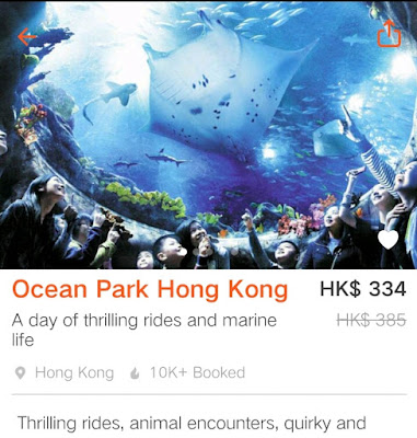 Klook Promo Code, Ocean Park Hong Kong Ticket