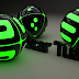 Share File C4D Text Light Ball 3D - Chữ 3D