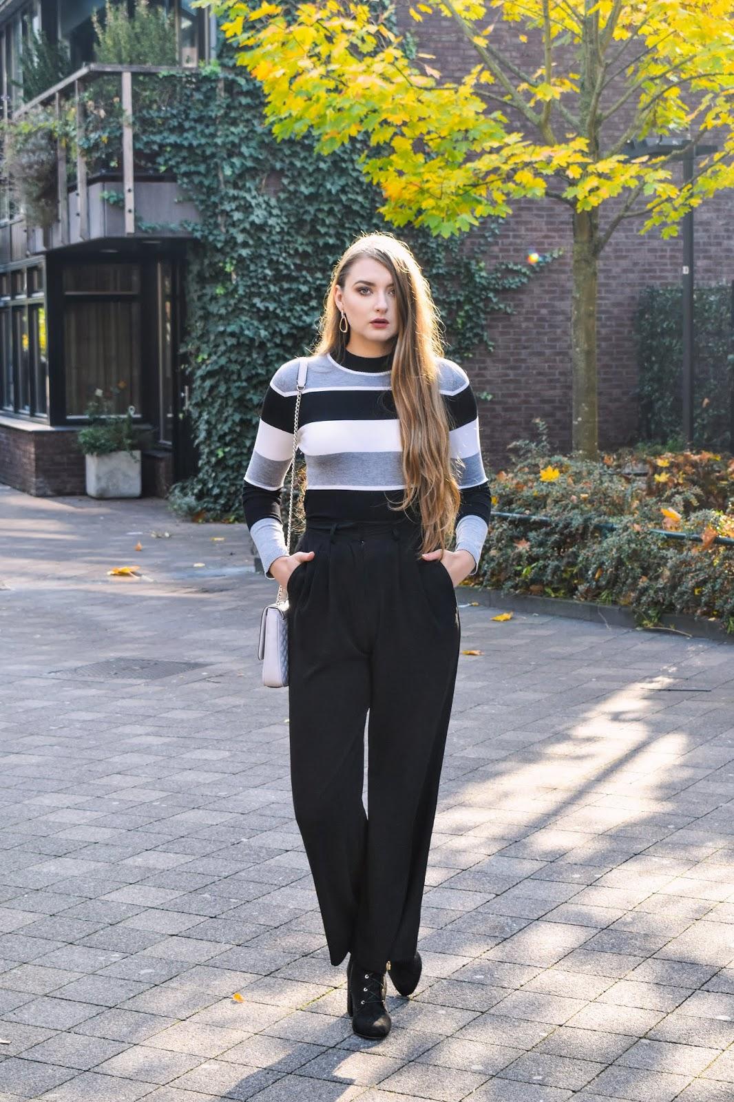 szerokie spodnie stylizacje