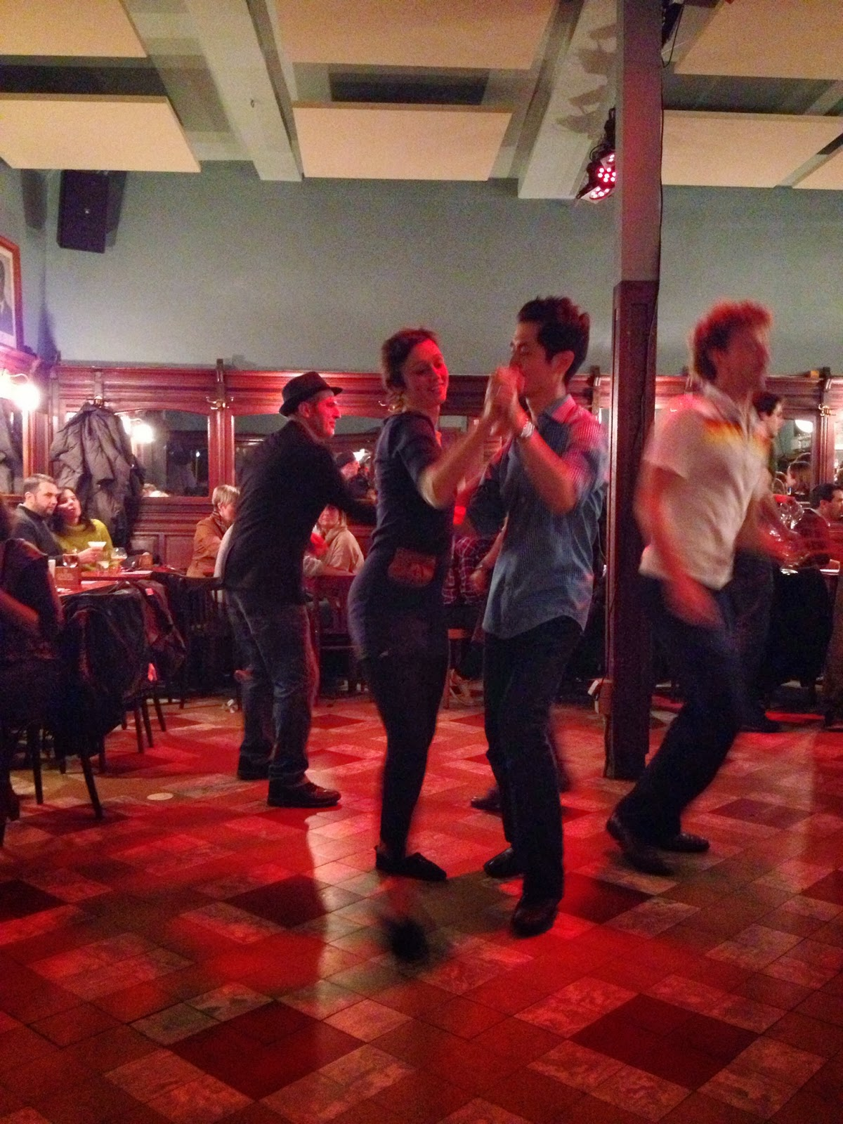 Brussels - Swing dancing at cafe/bar Monk