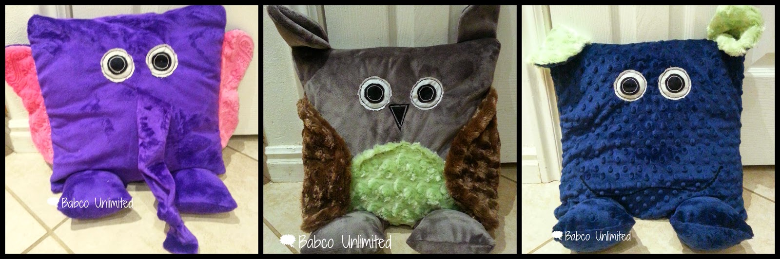BabcoUnlimited.blogspot.com -- Animal Pillows