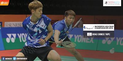 Pemain Chinese Taipei di Badminton Asia Team Championship 2018