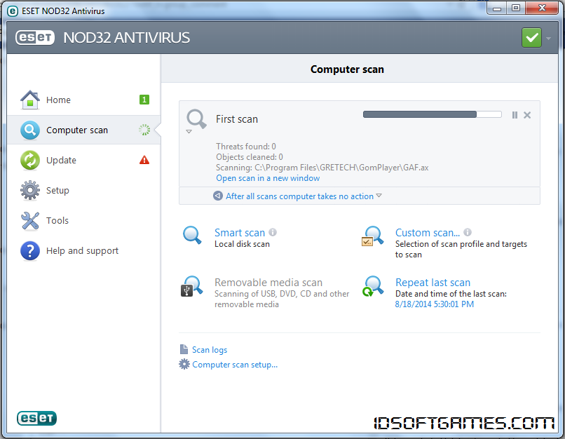 Eset NOD32 Antivirus 7 Screenshot