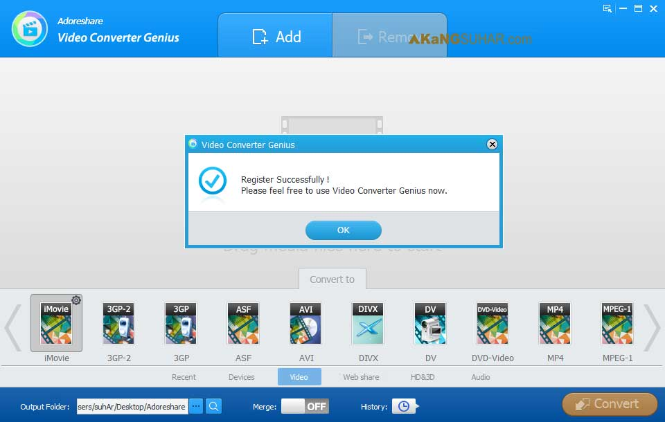 Free download Adoreshare Video Converter Genius Final latest version plus crack gratis terbaru crack license serial number patch keygen activation key code