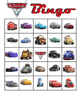 printable Cars 3 party games