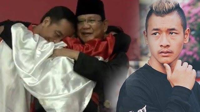 Hanifan Pesilat Menciptakan Joko Widodo Dan Prabowo Berpelukan Ketika Indonesia Meraih Emas