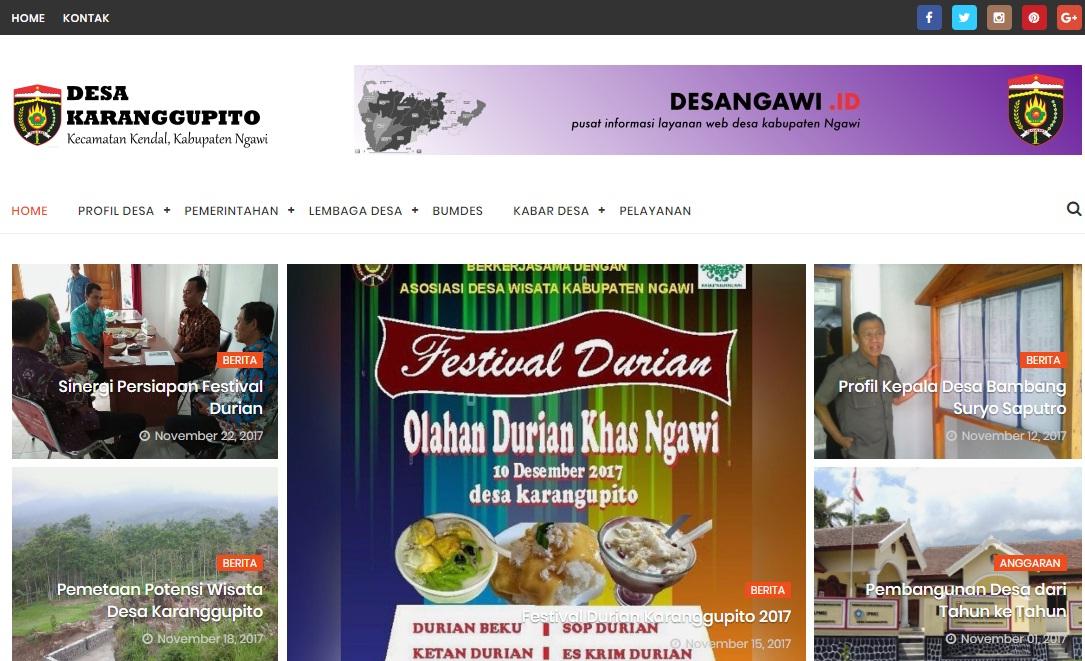 Web Desa Karanggupito