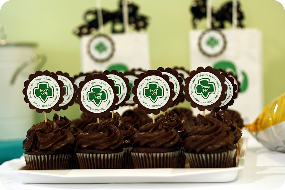 Girl Scout Personalized cupcake toppers