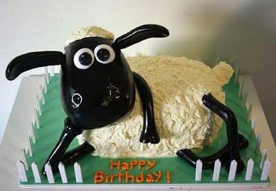 lustiger Geburtstagskuchen - Shaun das Schaf