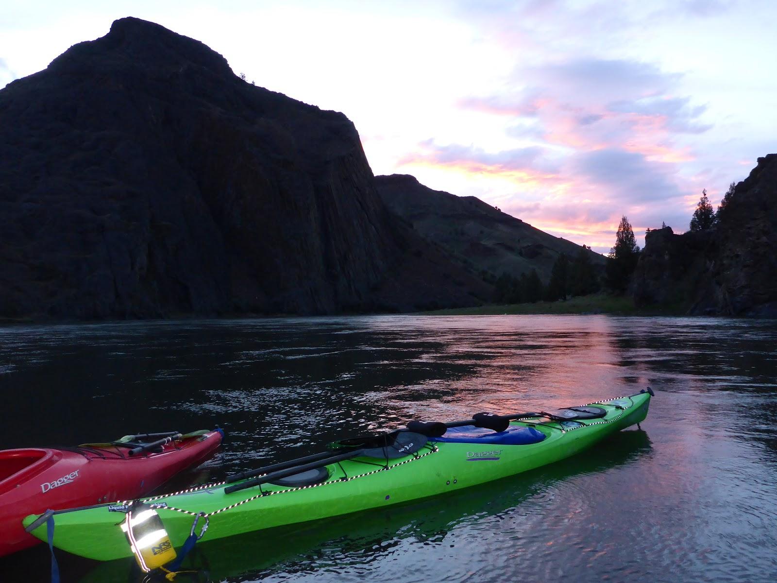 Beautiful Evening Kayak Camping On The John Day River