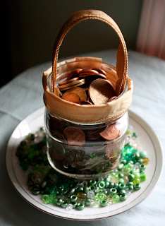 DIY Decorating for St. Patrick's Day: Penny Jar Pot O' Gold