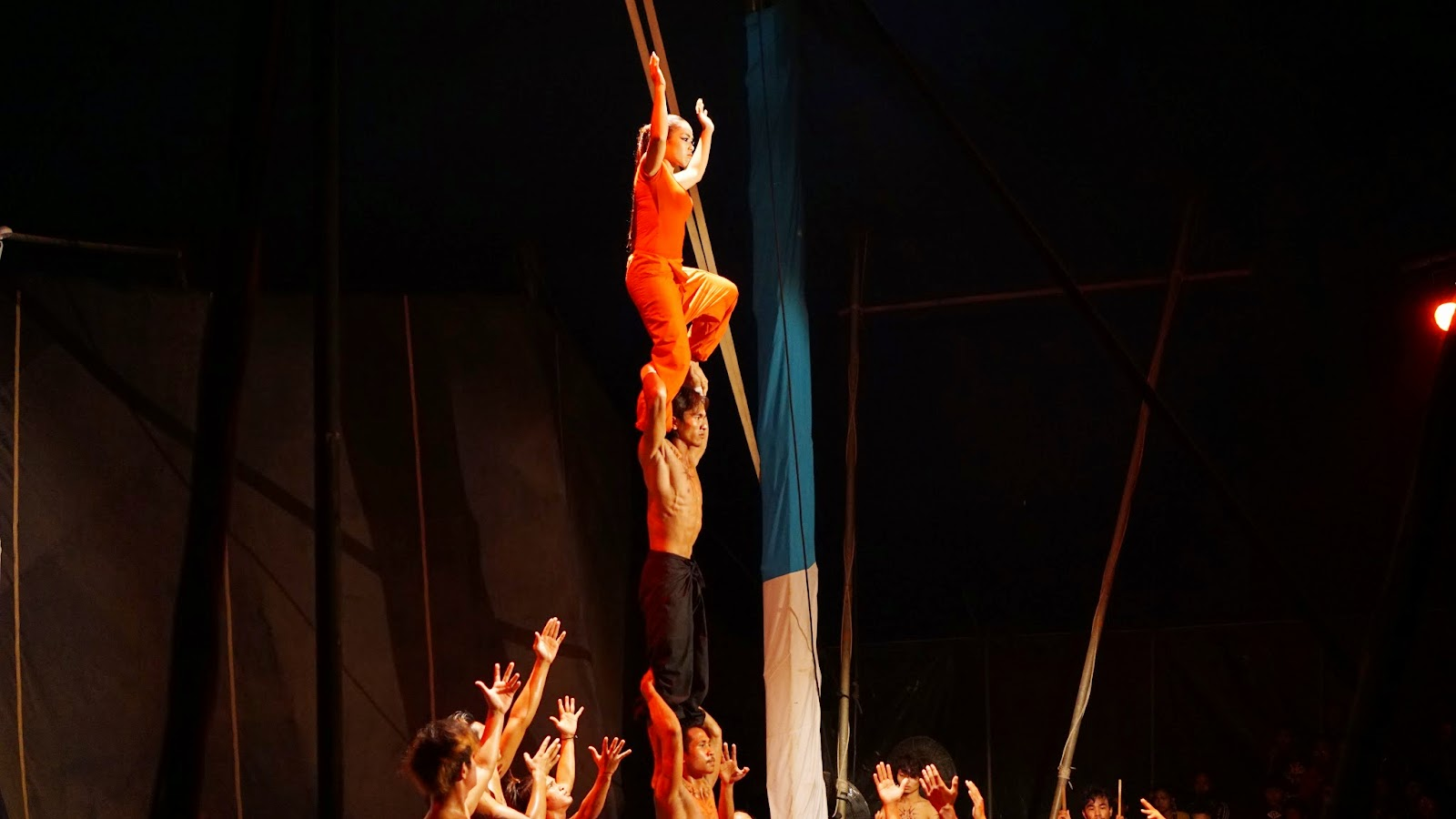 Great acrobatics performance by young and talented Cambodians