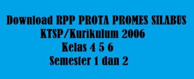 RPP PROTA PROMES SILABUS KTSP Kurikulum 2006 Kelas 4 5 6 Semester 1 dan 2