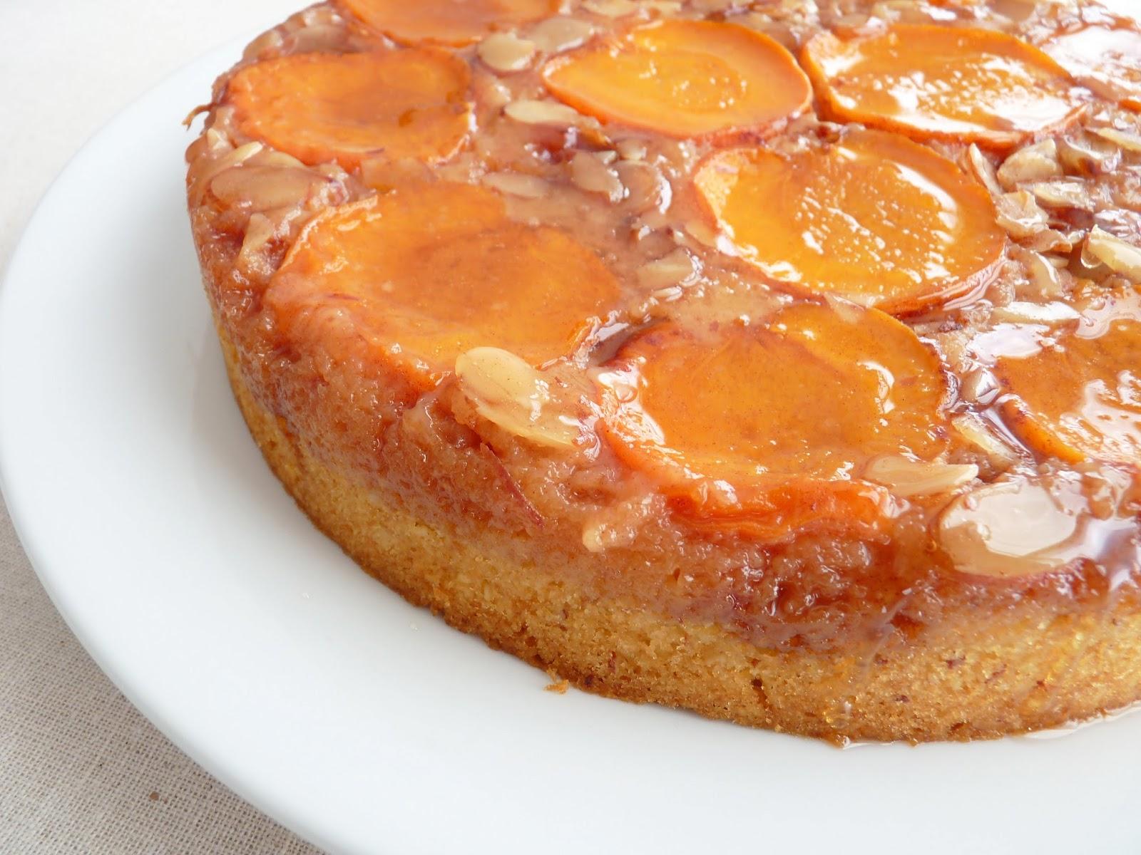 Apricot Upside Down Sponge Cake