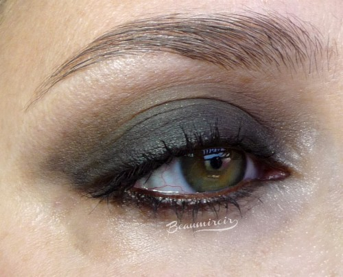 Smoky eye look with tarte Double Duty Beauy Star Power palette: Stiletto, Twilight, Ladies Night, Glimmer