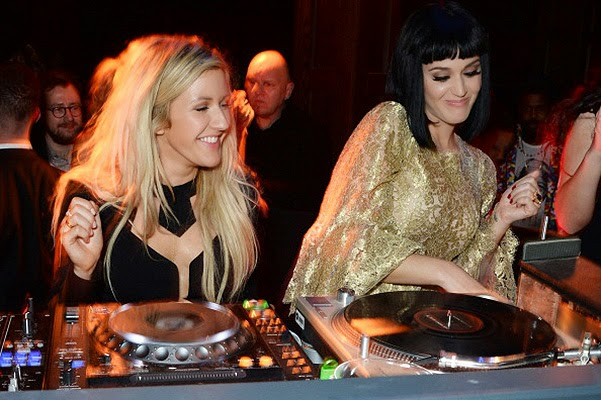 Ellie Goulding and Katy Perry afterparty