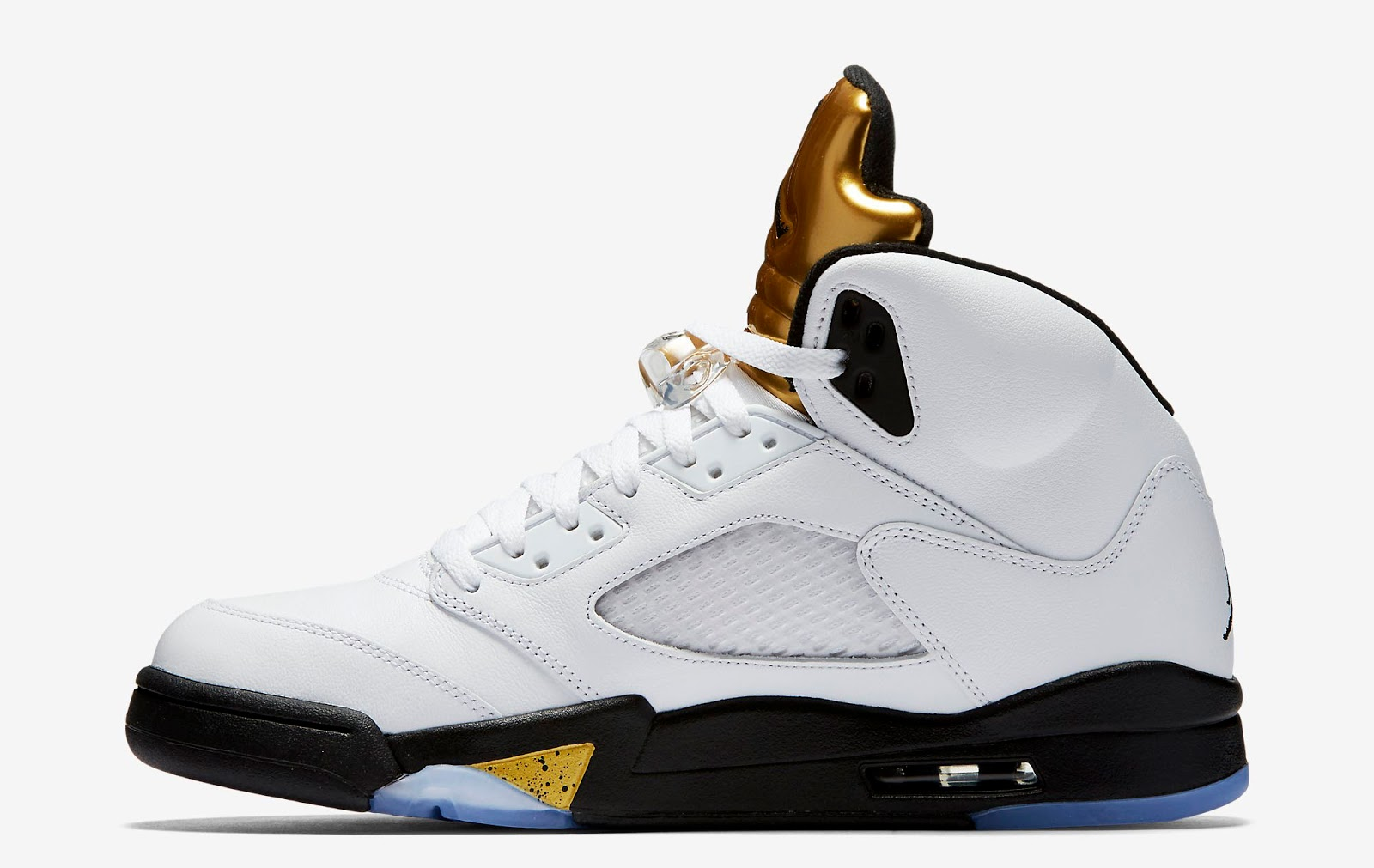 2011 Nike Air Jordan Retro 5 Or Métallique
