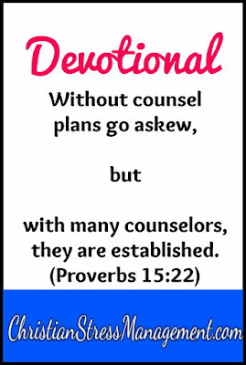 Devotional: Without counsel, plans go askew