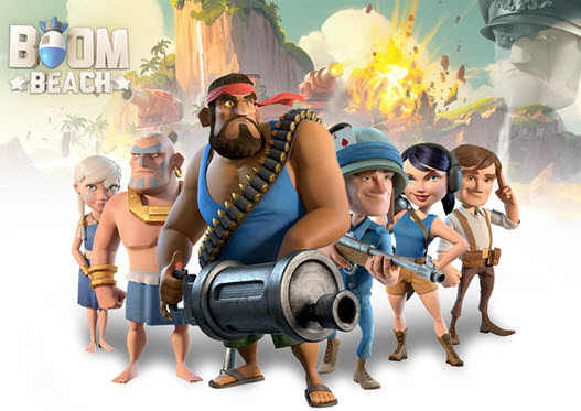 Boom Beach a game by Supercell for iOS Poster