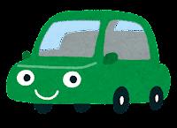 車のキャラクターのイラスト(緑)