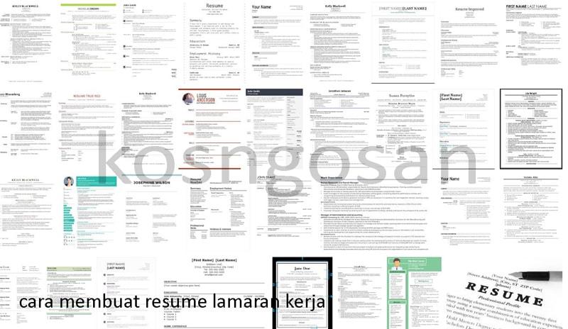 Contoh Resume Lamaran Kerja Online Untuk Fresh Graduate Kosngosan