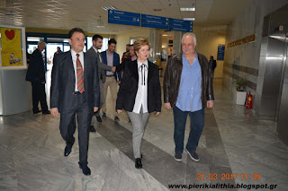 Επίσκεψη της Υφυπουργού Εσωτερικών (Μακεδονίας-θράκης) Μαρίας Κόλλια-Τσαρουχά στο Γενικό Νοσοκομείο Κατερίνης. (ΦΩΤΟ)