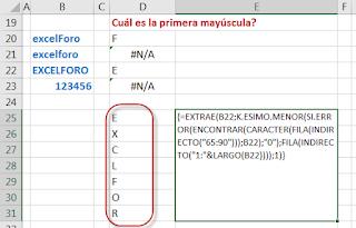 Encontrar Mayúsculas y Minúsculas en Excel