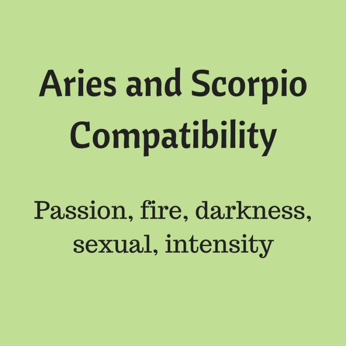 Aries and scorpio sex life