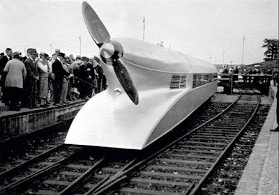 Train with propellers