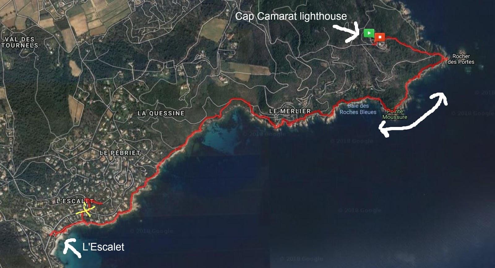 Cap Camarat Escalet trail image