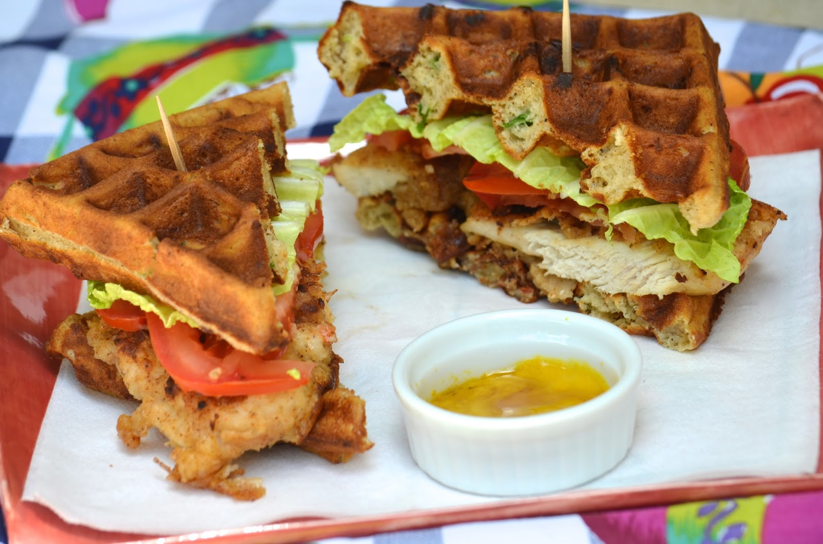 Fried Chicken And Waffle Sandwiches Obsessive Cooking