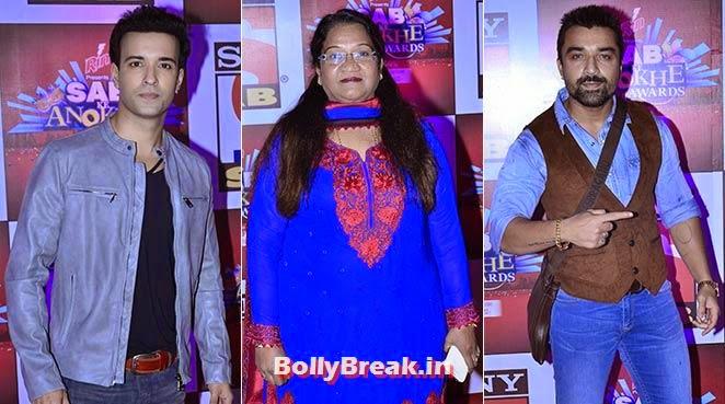 Aamir Ali, Vibha Chhiber and Ejaz Khan, SAB Ke Anokhe Awards Photo Gallery