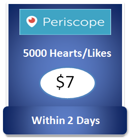 5000 buy Periscope Hearts