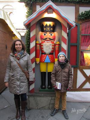 Mercado de Navidad Verona con un Cascanueces