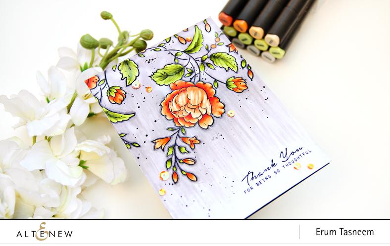 Altenew Handpicked Bouquet | Artist Markers | Erum Tasneem | @pr0digy0