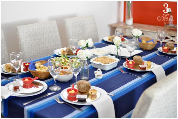 decoração mesa churrasco
