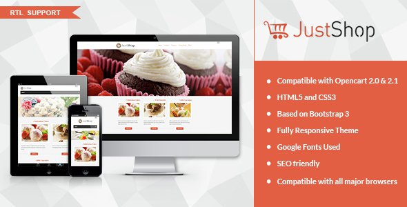 JustShop v1 0 – Cake Bakery OpenCart Theme Free Download