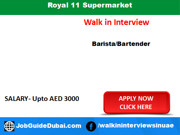Job in Dubai at supermarket for barista