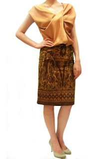 Model baju batik pesta trendy